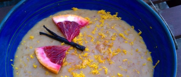 Slow Cooker Creamsicle Oatmeal - Orange Vanilla Goodness