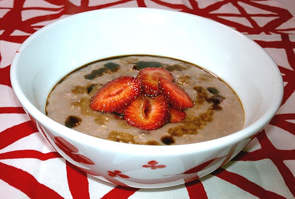 Slow Cooker Strawberry Balsamic Oatmeal - If It's Good Enough for Dessert...