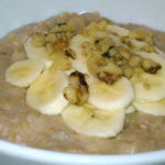 Slow Cooker Banana Walnut Bread Oatmeal