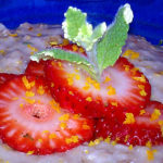Slow Cooker Strawberry Orange Mint Oatmeal