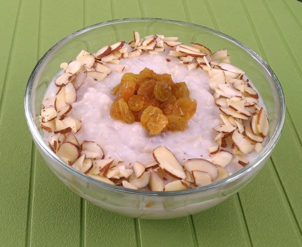 Vegan Slow Cooker Kheer - a Creamy Indian Rice Pudding
