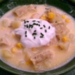 Vegan Slow Cooker Pumpkin Chick'n Chowder