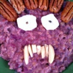 A Monster Ate My Purple Sweet Potato Casserole Oatmeal!