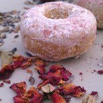 Fat-Free Lavender-Rose Donuts Sweetened with Stevia