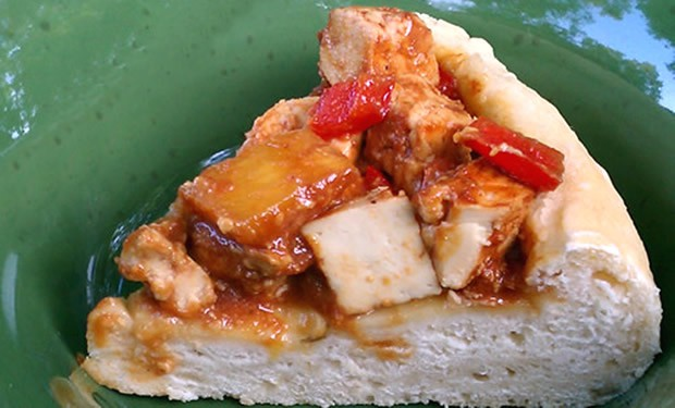 BBQ Tofu Pepper Pineapple Topping