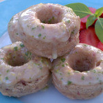 Strawberry Basil Mini Donuts