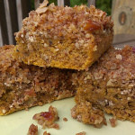 Autumn Coffee Cake with Pumpkin and Pecans