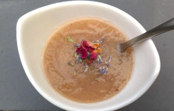 Slow Cooker Lavender Rose Pear Sauce