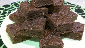 Hazelnut Ale Brownies with Pumpkin