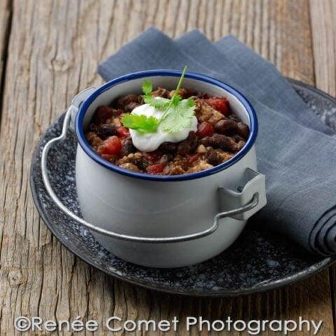 Vaquero Bean Tempeh Chili Recipe