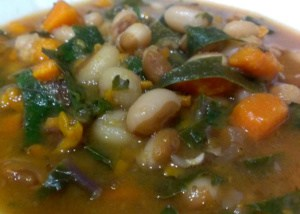 Slow Cooker Yellow-Eyed Bean Soup For 2