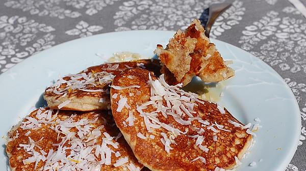 Lemon Coconut Pancakes