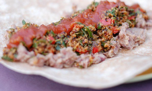 Collard Green and Quinoa Taco Filling | Healthy Slow Cooking