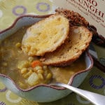 Slow Cooker Farro and Veggies Split Pea Soup