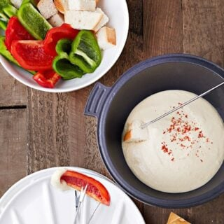 Almond And Great Northern Bean Fondue