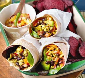 Scrambled Tofu Breakfast Burrito from Vegan Slow Cooking for Two or Just You