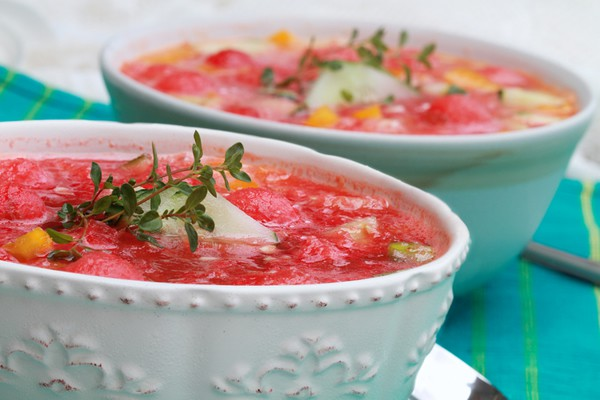Cooling Summer Watermelon Gazpacho