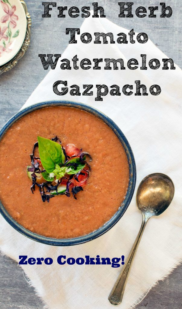 Fresh Herb and Watermelon Gazpacho