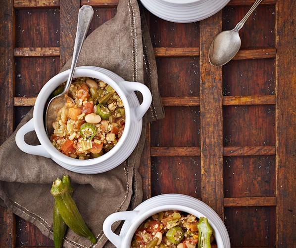 White Bean Quinoa Gumbo from Vegan Slow Cooking for Two or Just You