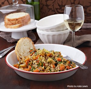 Root Veggie Barley Risotto from Vegan Slow Cooking for Two