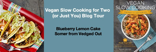 Somer of Vedged Out Makes Slow Cooker Blueberry Lemon cake
