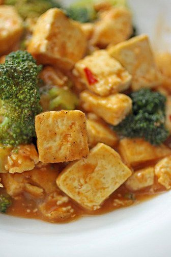 Chipotle-Citrus Tofu and Broccoli from One-Dish Vegan and a Giveaway