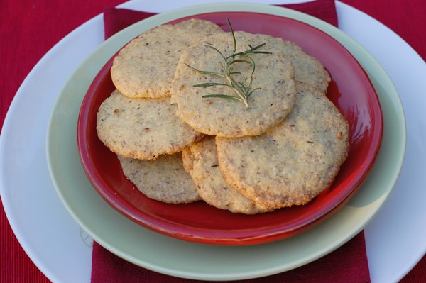 Crispy Citrus Rosemary Cookies