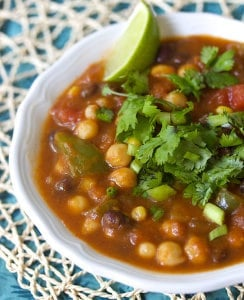 Pumpkin Chickpea Chili