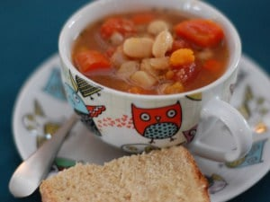 Super Easy White Bean Veggie Soup (Slow Cooker)