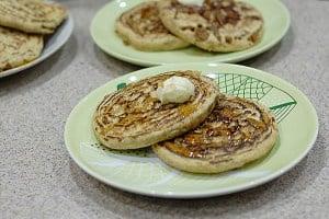 Weekend Spelt Vegan Sausage Pancakes