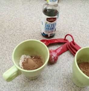 Vegan Chocolate Caramel Mug Brownie