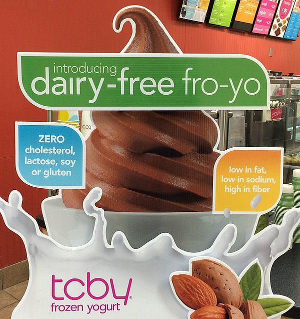 Vegan Almond Fro-yo at TCBY