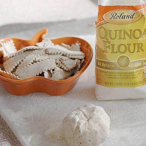 Quinoa Flour and Flax Gluten-free Noodles