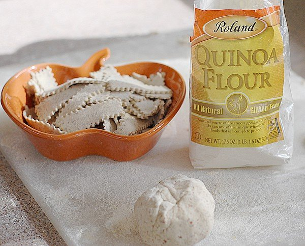 Quinoa Flour and Flax Gluten-free Noodles