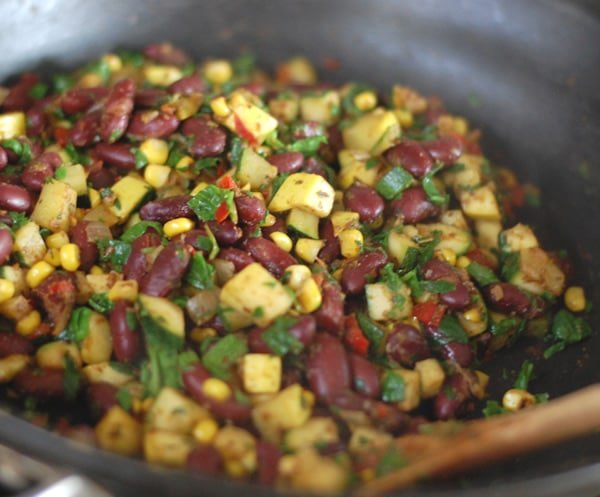 Kidney Bean and Summer Squash Mexi Stir-fry