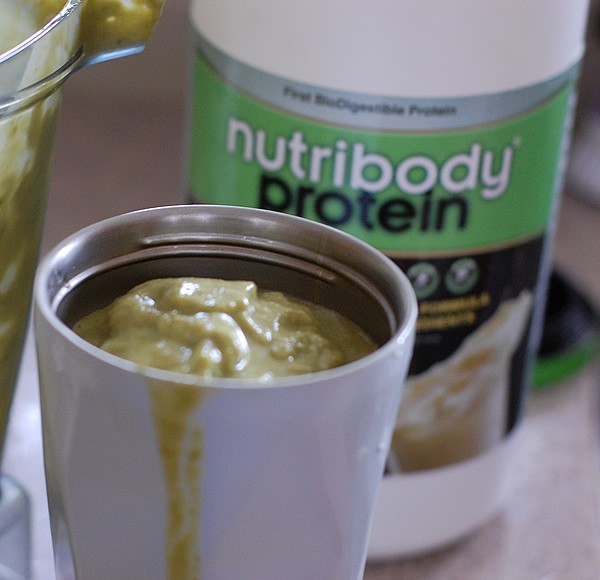 Green Pina Colada Smoothie with Nutribody Protein Powder
