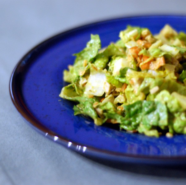 Chopped Salad with Vegan Avocado Ranch Dressing from Healthy Slow Cooking