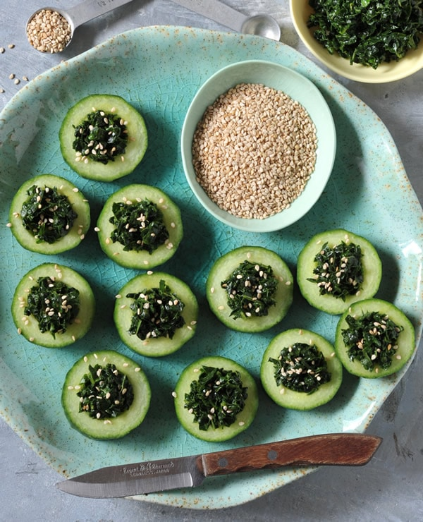 Kale Cucumber Cups From Vegan Finger Foods