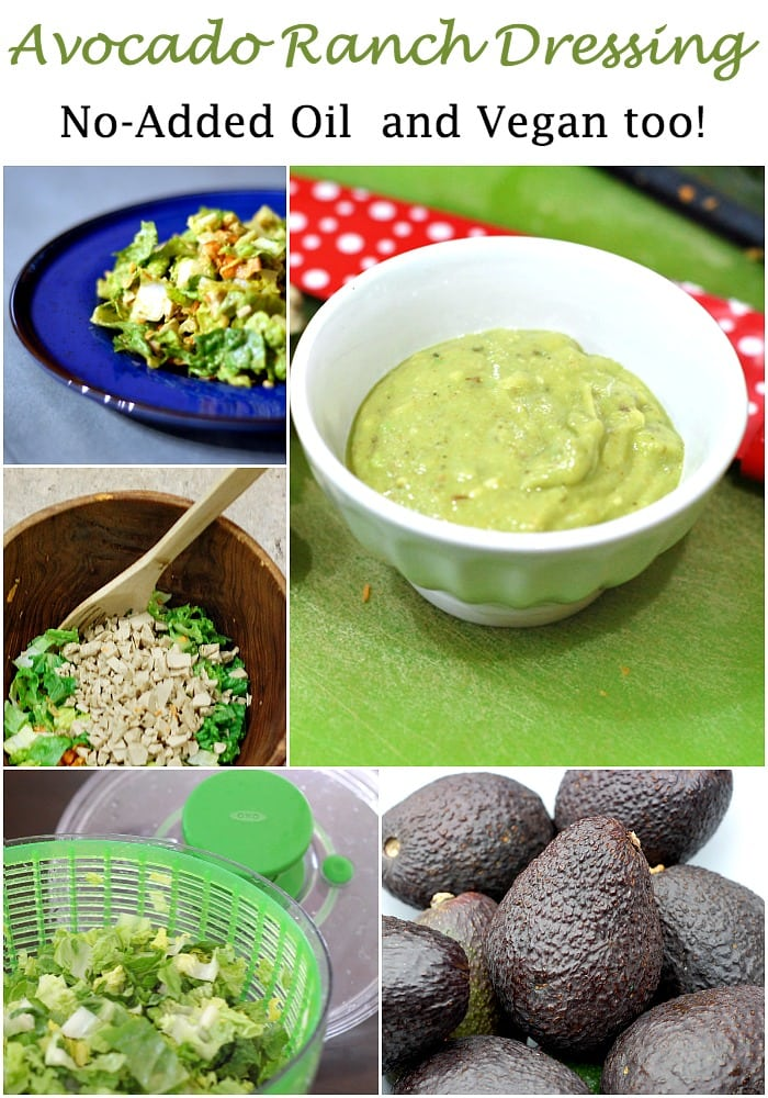 No oil added avocado ranch dressing
