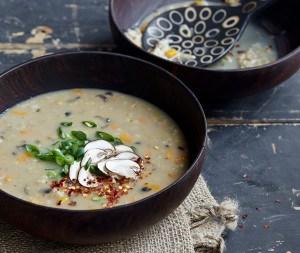 Mushroom Ginger Steel-Cut Oat Congee Recipe