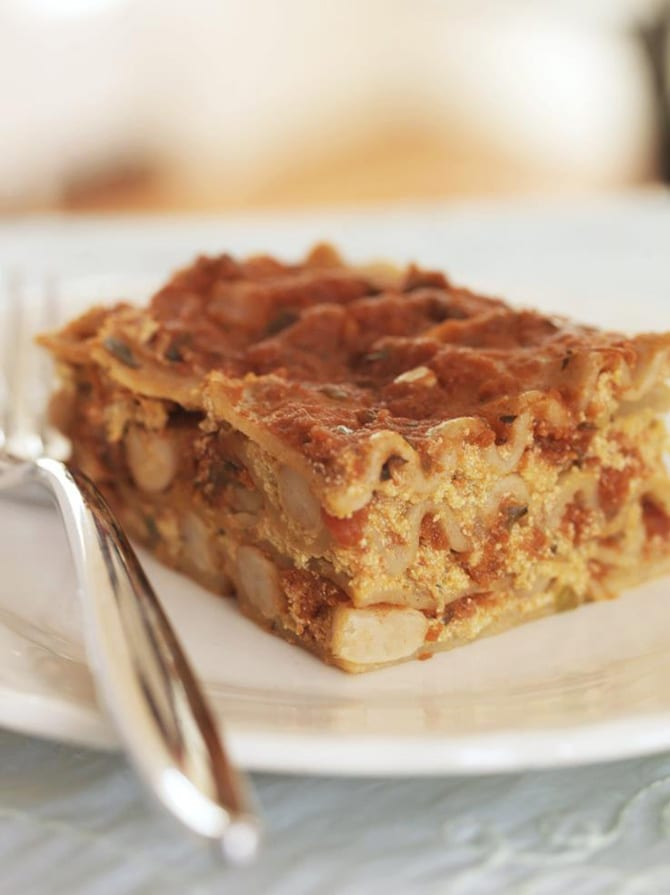 Slow Cooker Pumpkin White Bean Lasagna from The Vegan Slow Cooker by Kathy Hester