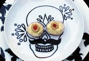 Vegan Deviled Potatoes for Halloween