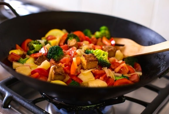 Sweet-and-Sour Stir-Fried Vegetables from Plant Power by Nava Atlas