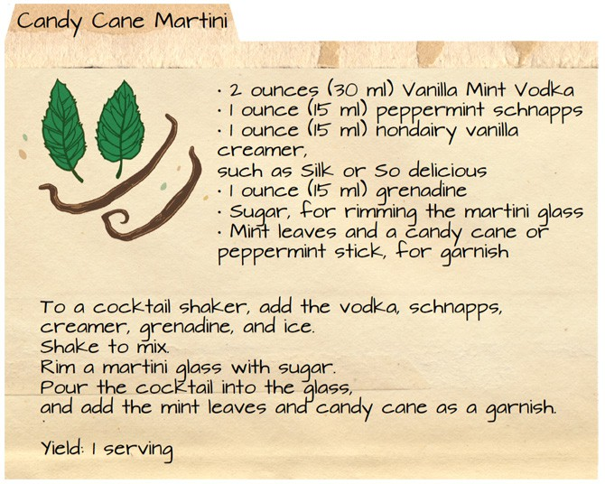 Vegan Food Gift: Vanilla Mint Vodka