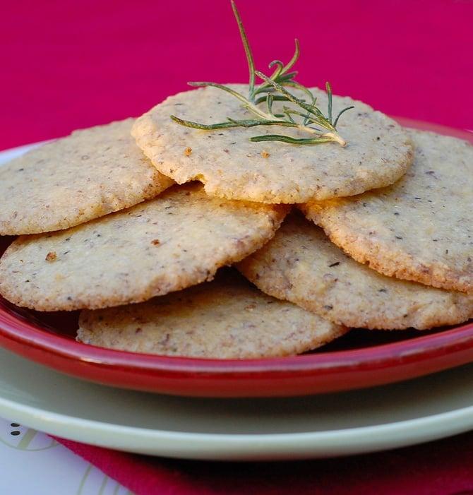 Vegan Food Gifts: Citrus Rosemary Cookies