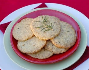 Vegan Food Gifts: Citrus Rosemary Cookies