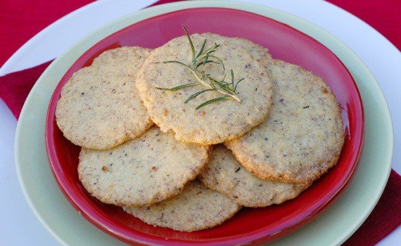 Vegan Holiday Food Gifts: Citrus Rosemary Cookies