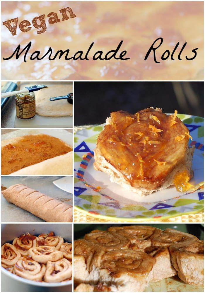 Vegan Orange Marmalade Rolls -