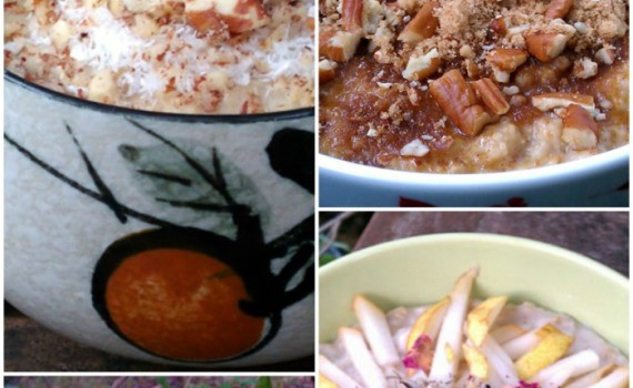 4 Slow Cooker Vegan Oatmeals from HealthySlowCooking.com