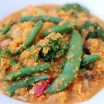 Thai Red Curry Vegetables with Sweet Potato Rice